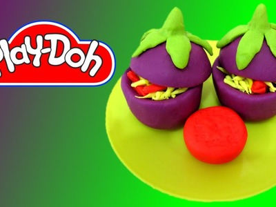 How to make Stuffed Eggplant out of Play-Doh
