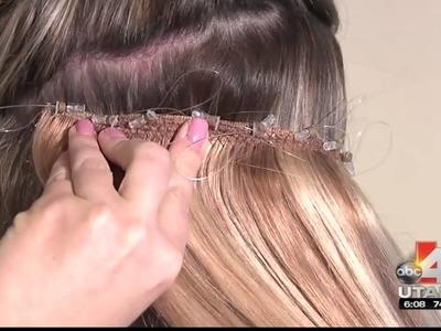 Lock'n Long Hair Extensions Utah ABC4 Made4Utah Patent Pending Design