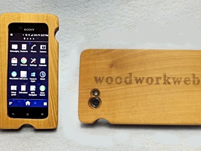 Make a Wooden iPhone or Smartphone Case - a woodworkweb woodworking video