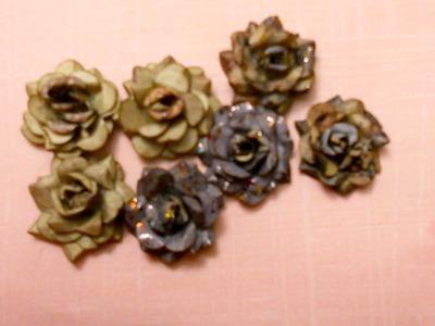 Mini rose using a 6 petal punch