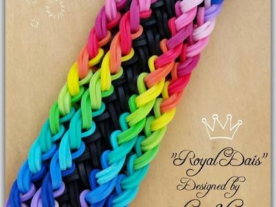 """New """"Royal Dais"""" Rainbow Loom Bracelet. How To"""