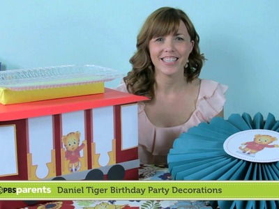 Paper Medallions & Trolley Dessert Stand | Daniel Tiger Birthday Party (1) | PBS Parents