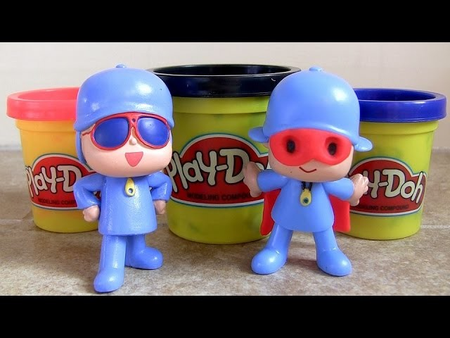 Play Doh Pocoyo Superman Man of Steel Halloween Costume Playdough Baby Toys by ToyCollector
