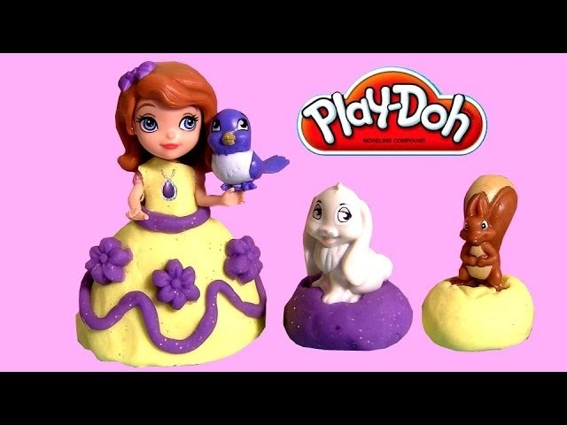 Play Doh Sofia the First Princess Dress-up with Sofia and her Animal Friends Play Dough