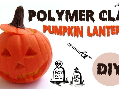 Polymer clay pumpkin lantern TUTORIAL-halloween project