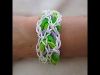 Rainbow Loom- How to make a Bracken Bracelet (Variation of the Triple Link Chain by Justin's Toys)