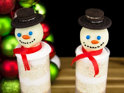 Snowman Push Pops from Cookies, Cupcakes and Cardio