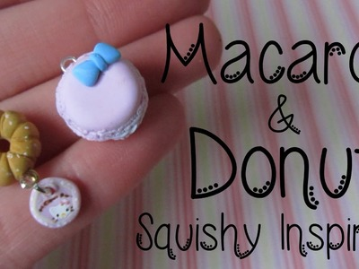 Squishy Inspired Donut & Macaron Tutorial: Hello Kitty Donut: Polymer Clay How-to.