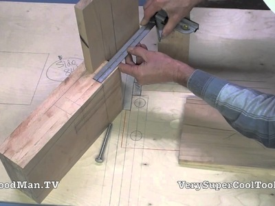 08 How To Build A Bed • Leg Joinery And Hardware Layout