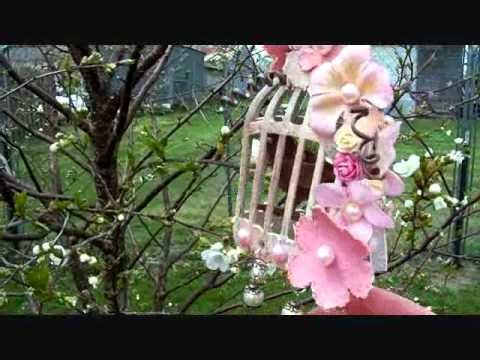 3 sided Shabby Chic Birdcage