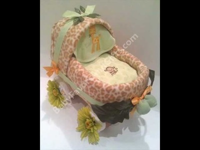 Copy of Baby shower gift ideas-Unique Diaper Cakes-centerpieces