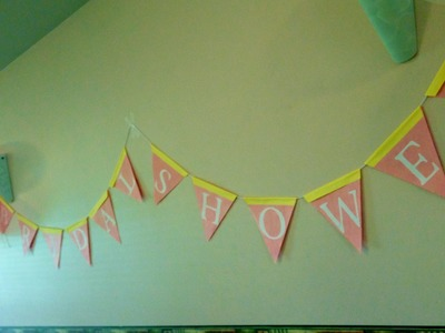 Decorating: How to make a bridal shower banner decoration