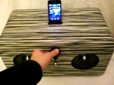 [DIY] Retro Style Large iPhone Speaker Dock Makassar Wood