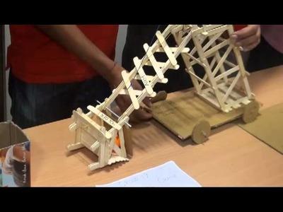 Dragons Mouth (The Mechanical Crane) Ice cream Stick Model IIT Gandhinagar