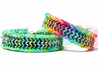 Fishtail Sandwich Rainbow Loom Bracelet Tutorial - Advanced