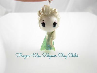 Frozen~Elsa Polymer Clay Charm
