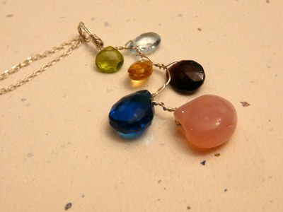 Gemstone Branch Pendant Tutorial by Denise Mathew