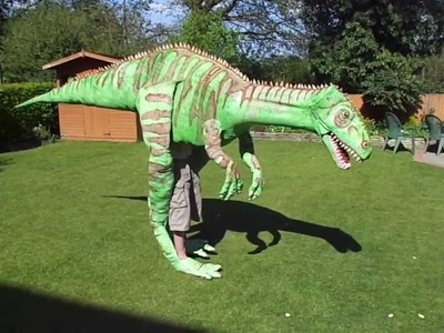 Homemade Dinosaur Costume 4 meters long!!