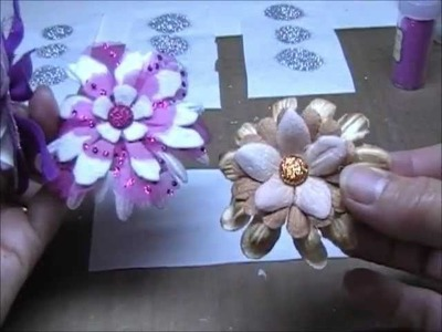 Homemade Glitter Glue Dots From Hot Glue - Tutorial