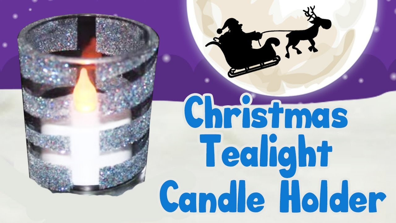 How to Make a Christmas Tealight Candle Holder