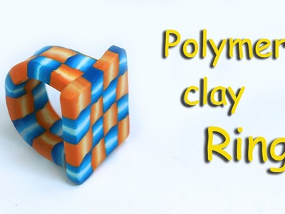 How to make a polymer clay ring with a geometric 3D weft cane