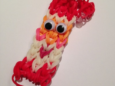 How to Make a Santa Claus Bracelet - rainbow loom