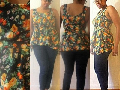 How to Make an Easy Flowy Tank Top