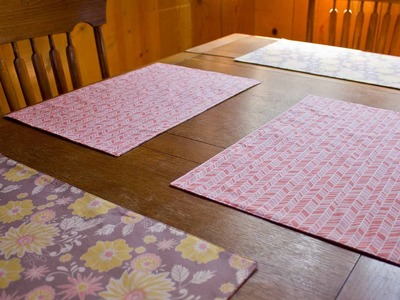 How To Sew A Reversible Placemat