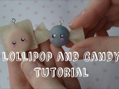Lollipop and Candy Polymer Clay Charm Tutorial
