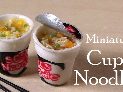 Miniature Cup Noodles. Instant Noodles - Polymer Clay Tutorial