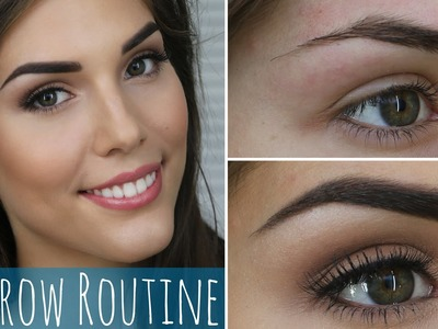 My Eyebrow Routine | How to Groom and Fill in Dark Eyebrows