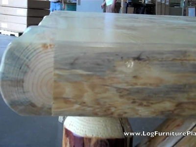 Nature's Twist Log Dining Table | Log Dining Room Furniture | Rustic Dining Table