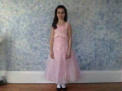 Pink Organza A-line Dress from FlowerGirlPrincess.com