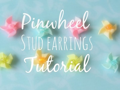 Pinwheel Stud Earrings: Polymer clay tutorial