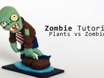 Plants vs Zombies Zombie Figurine Polymer Clay Tutorial