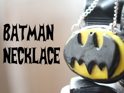 Polymer Clay Batman Necklace Tutorial