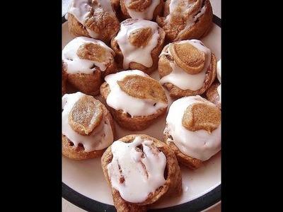 Recipe - Whole Wheat Caramel Cinnamon Buns, Cinnamon rolls, vegan