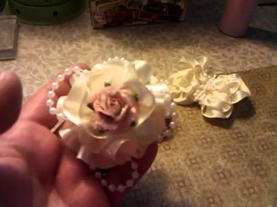 Shabby chic butterflies and flowers
