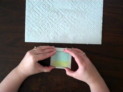 Stamping with an acrylic block