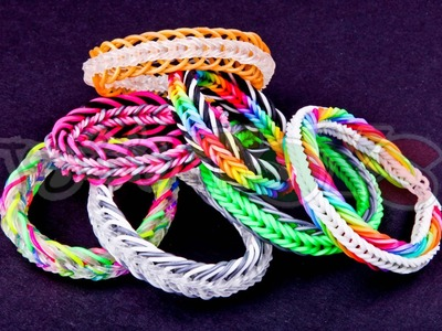 Super 7 Seven Link Fishtail - EASY Rainbow Loom and Monster Tail Bracelet Tutorial
