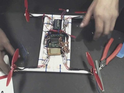 The first paper quadcopter electronics part 2