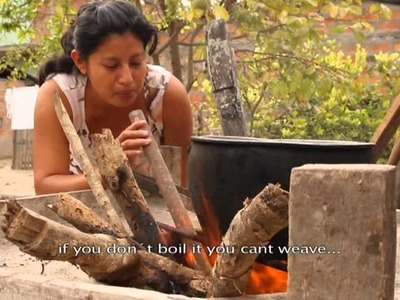 Traditional weaving of the Ecuadorian toquilla straw hat