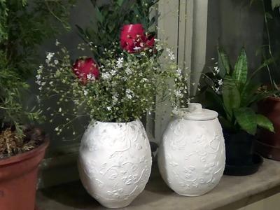 Vasos e potes de jornal (Vases and pots from newspaper) - Part 1