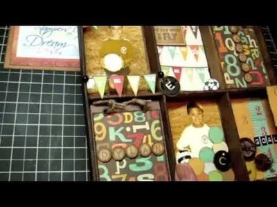 Altered Shadow Box and Easel Card