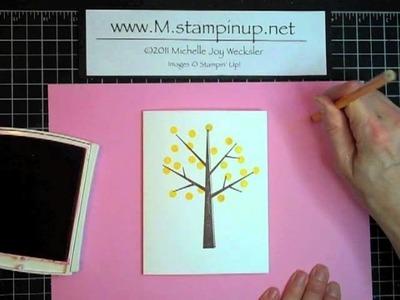 Card Play Episode #23 - Eraser Stamping Birthday Card