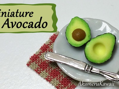 Easy Miniature Avocado - Polymer Clay Tutorial