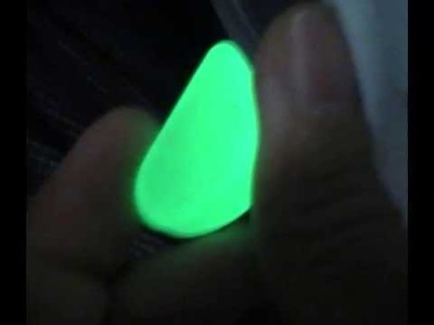 GLOW in the DARK stones and pebbles - Glow color - green