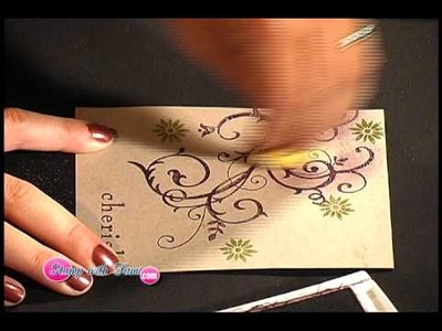 Heat Embossing - Part 2 - The Stamp with Tami Show