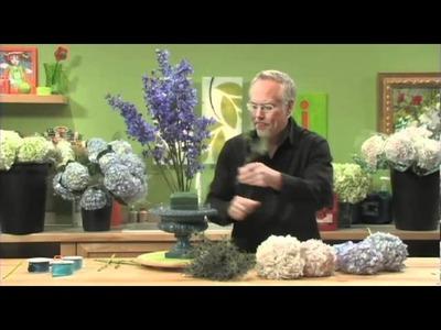 How to Arrange Flowers- Create a Hydrangea Arrangement!