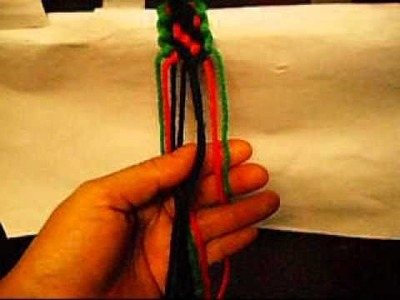 How To Make A 3 Color Macrame Friendship Bracelet.